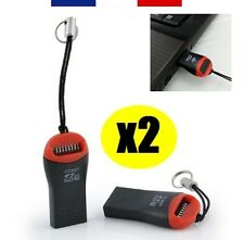 2 X LECTEUR ADAPTATEUR CLÉ USB 2.0 POUR CARTE MÉMOIRE MICRO-SD JUSQU'À 32GO 32GB