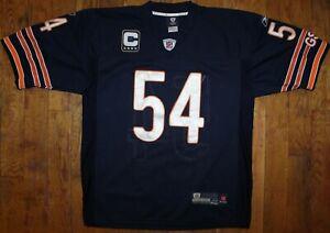 2000-13 Reebok Chicago Bears GSH #54 Brian Urlacher Captain Home Jersey