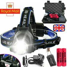 Zoom Headlamp 350000LM Rechargeable T6 LED Headlight Flashlights Head Torch Fish