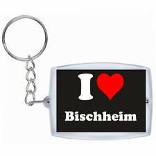 Schlüsselanhänger I Love Bischheim in Schwarz Weihnachten Keyring