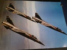 French Airforce jets Mirage in flight Danrose Press vintage wall  poster PBX2907