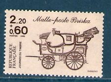 TIMBRE N° 2410 NEUF XX LUXE - MALLE-POSTE BRISKA - JOURNEE DU TIMBRE 1986