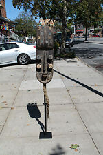 """Arts of Africa - Grebo War Mask - Liberia - 32"""" Height x 10"""" Wide Stand not incl"""