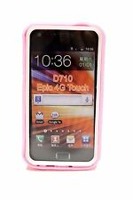 Light Pink (White) Hard Cover Case for Samsung Galaxy S II 2 Epic Touch 4G D710