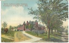 1912 Antique RED WING MI Postcard LUTHERAN LADIES' SEMINARY A College for GIRLS