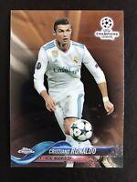 CRISTIANO RONALDO 2017-18  Topps Chrome UEFA Champions League base Real Madrid