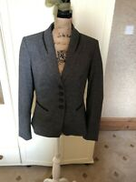 NEXT Ladies Grey Single Breasted Smart Tailored Blazer Jacket Size 14