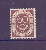 Bund 1951 - 60 Pf. Posthorn - MiNr. 135 postfrisch** - Michel 150,00 € (127)