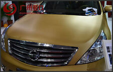 "24""x36"" 3D Golden Carbon Fiber Vinyl Car Wrap Sheet Roll Film Sticker Decal"