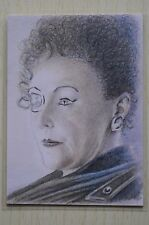 DR WHO MADAME KOVARIAN (FRANCES BARBER) SKETCH CARD BY Wu Wei -2011
