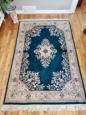 Vintage Genuine Noorjehan 4'x6' Carpet India Wool Rug & Certificate Of Appraisal