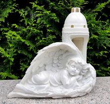 Engel Figur Grablaterne Grablampe Grableuchte Grablicht Grabschmuck Herz