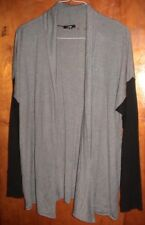 APT 9 GRAY & BLACK SWEATER/TOP-OPEN FRONT-WOMAN SIZE XL-NWT