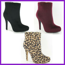 Zip High Heel (3-4.5 in.) Suede Casual Boots for Women