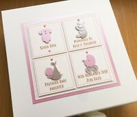 1st BIRTHDAY CARD Twins Grandchildren Daughters Sons Personalised Custom Designs