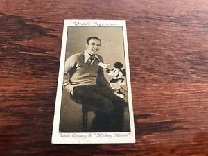 RARE ORIGINAL 1931 Wills Cinema Stars 3rd Series WALT DISNEY MICKEY MOUSE #24