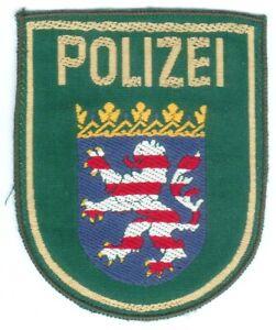 1 Altes Ärmelabzeichen Polizei Hessen für die alte grüne Uniform, I/II