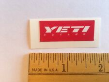 "1 7/16"" Yeti Cycles White/Red Axe Mtb Bicycles Bike Frame - Sticker Decal"