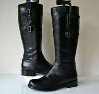 """CLARKS """"MULLIN SPICE"""" BLACK LEATHER KNEE HIGH FLEXIBLE CALF BOOTS UK 7D RRP £135"""