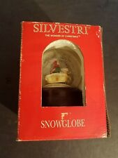 "Very Rare Silvestri Hand Crafted Lighted ""Snowmobiling"" Snow Globe In Box"