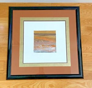 VINTAGE MARCIA ISAACS CONTEMPORARY WALL ART / PRINT FRAMED MATTED