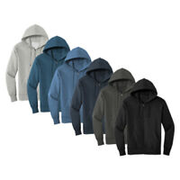 Men's Comfortable Full Zip Fleece Hoodie Sweatshirt  XS-S-M-L-XL-2X-3X-4X NWT