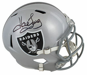 Raiders Howie Long Authentic Signed Full Size Speed Rep Helmet BAS Witnessed