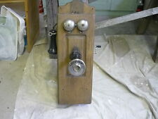 ANTIQUE B-R ELECTRIC TELEPHONE WALL  B R OAK WOODEN MAGENTO HAND CRANK RARE