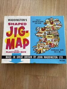 Waddingtons Shaped Jig-Map Design 558 Ireland Jigsaw Puzzle