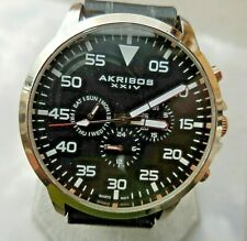 MONTRE AKRIBOS XXIV HOMME DESIGN, MULTI-FONCTIONS DATE,SEMAINE & 24 HEURES,TBE