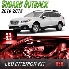 2010-2015 Subaru Outback Red LED Lights Interior Kit