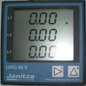 Universalmessgerät Janitza UMG 96S Stromwandler Messwandler 52.13.001