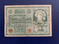 GERMANY - 50 MARK  BANKNOTE 1920-- VERY FINE