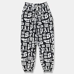 Palm Angels Black and White Logo Monogram Sweatpants   Size L SS21 RRP $595