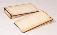 PS004 Double Sided Straight Platform Ramp Twin pack OO Gauge Laser Cut Kit