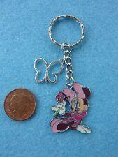 Disney Pink Minnie Keyring Keychain Enamel Bag Charm Birthday Gift Present # 97