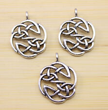 10/30/50 pcs beautiful ancient Tibet silver Chinese knot charm pendant 23x23 mm
