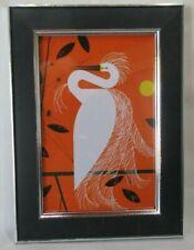 "Charley Harper Framed Print SNOWY EGRET 4"" X 6"""