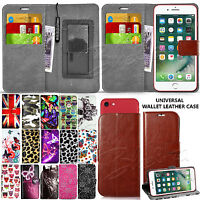 For Vodafone Smart Phones - Universal Leather Wallet Case Cover Book + Stylus