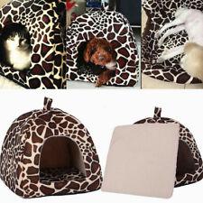 Small Pet Nest Dog Cat Fleece Soft Warm Bed House Cotton S Mat Lepard Size P6O6