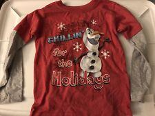Disney Boys 4T Olaf Chillin For The Holidays New