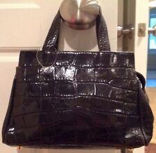 Beautiful Designer SONIA RYKIEL Crocodile Leather Vintage Handbag PARIS