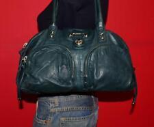 BOTKIER Lrg 'Bianca' Green Leather Shoulder Satchel Bag Tote Purse Handbag $445