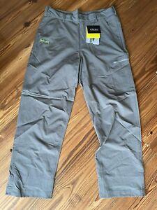 HUK Performance Fishing Gray Packable Pants Medium NEW