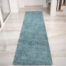 Blue Carpet Runners | Duck Egg Shaggy Rugs | Long Narrow Hallway Runner Rug