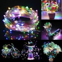 1/5/10M USB LED Copper Wire String Fairy Light Strip Lamp Xmas Party Waterproof