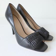 WITTNER Open Toe Black Leather Pumps Shoes Size 40