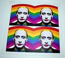 Russian President Vladamir Putin as a Gay Clown Blotter Art Banned in Russia
