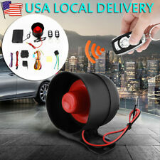 1-Way Car Auto Vehicle Alarm & Keyless Entry Siren Security System 2 Remote