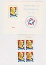 Chile 1976 mnh block plus special issue card
